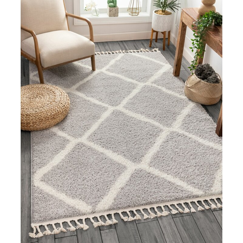 Well Woven Cabana Geometric Gray White Area Rug Reviews Wayfair