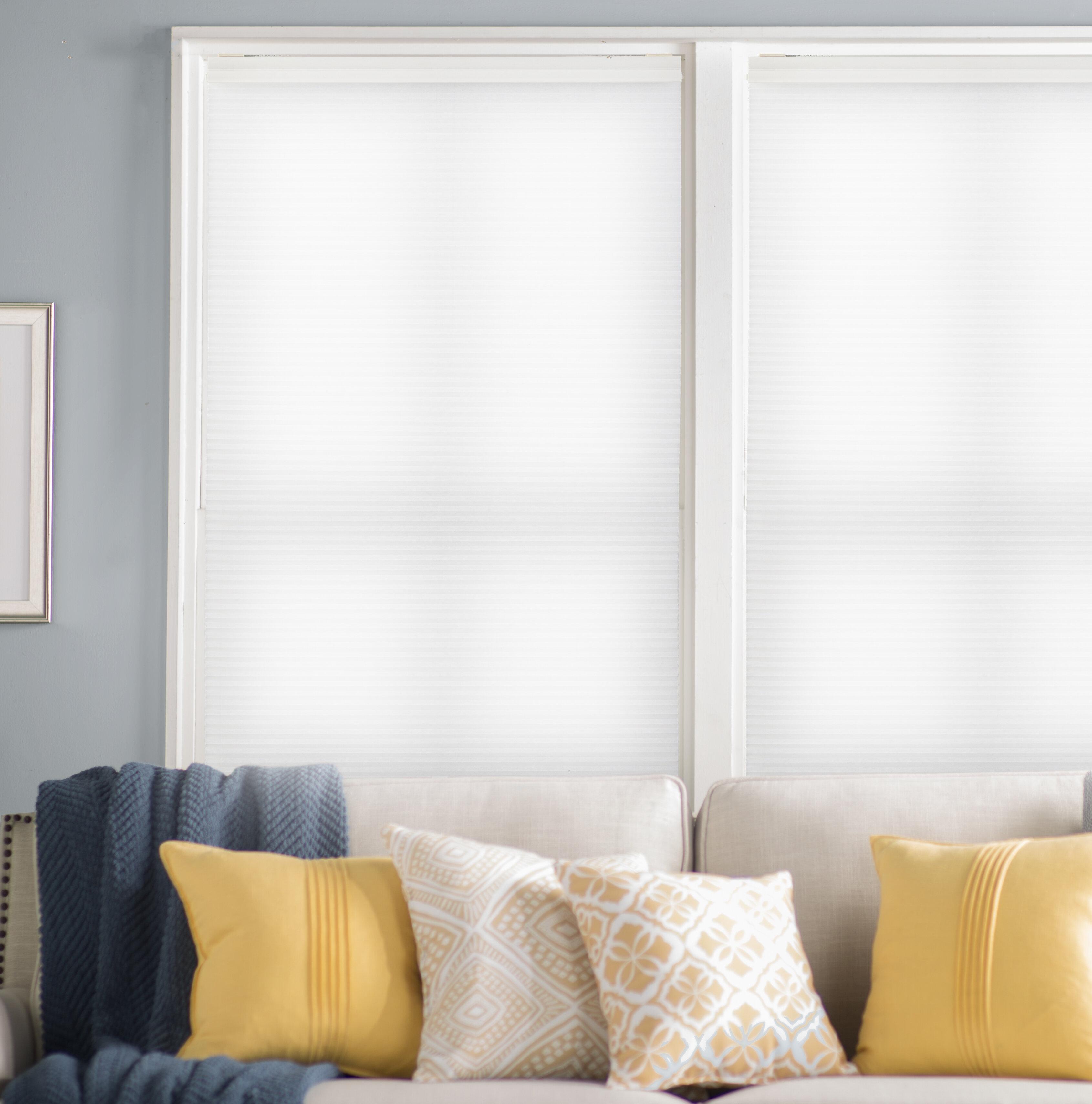 Decor Avenue Custom Cordless 18 1//2 W x 30 to 36 H Crystal Light Filtering Cellular Shade Inside Mount