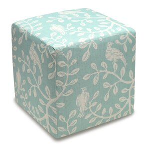 Birds and Vines Cube Ottoman by 123 Creations