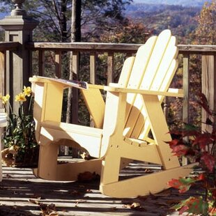 Fanback Wood Rocking Adirondack Chair by Uwharrie Chair Today Sale Only