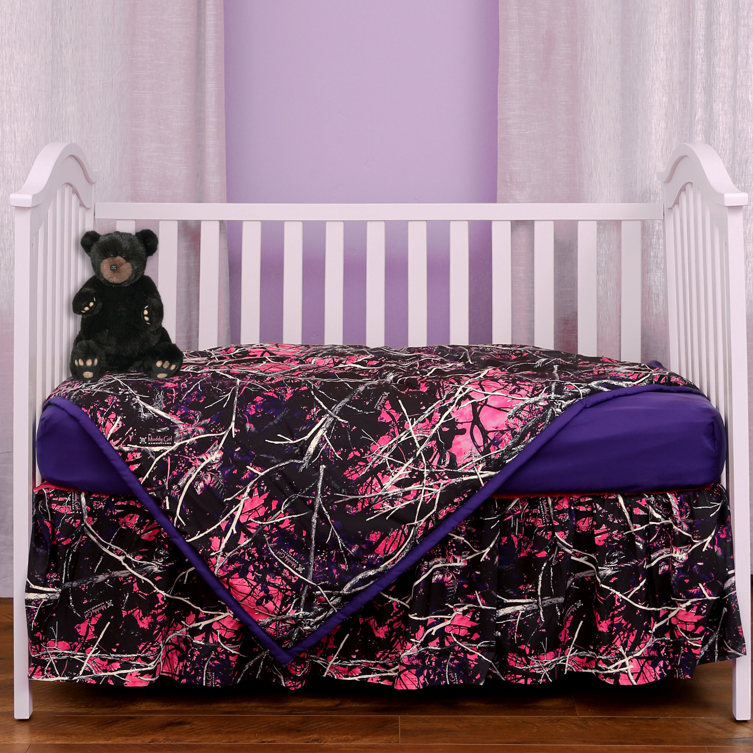 Muddy 3 Piece Crib Bedding Set