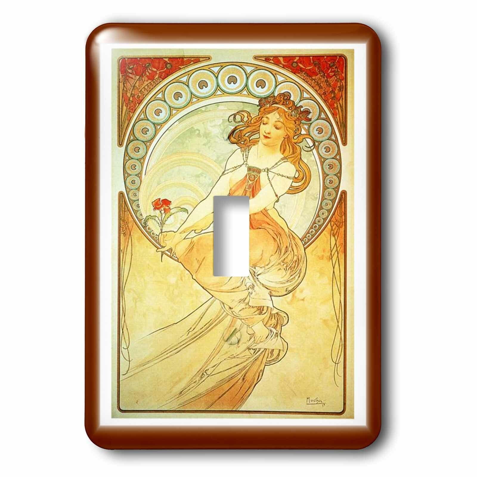 3drose Lady In Dress 1 Gang Toggle Light Switch Wall Plate Wayfair