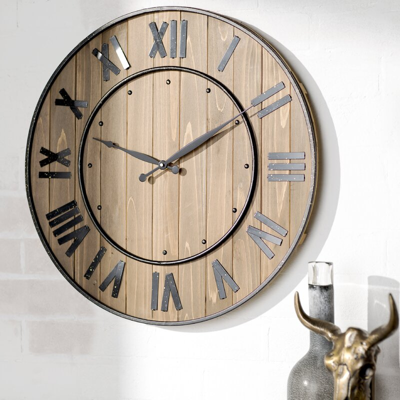 Northrop Wine Barrel 24 Wall Clock