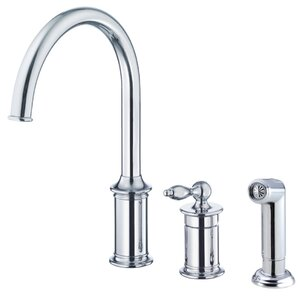 Danze? Prince Single Handle Deck Mounted Kitchen Faucet with Side Spray
