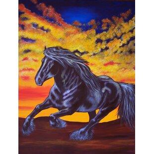 Desert Wind Horse 2 Sided Garden Flag