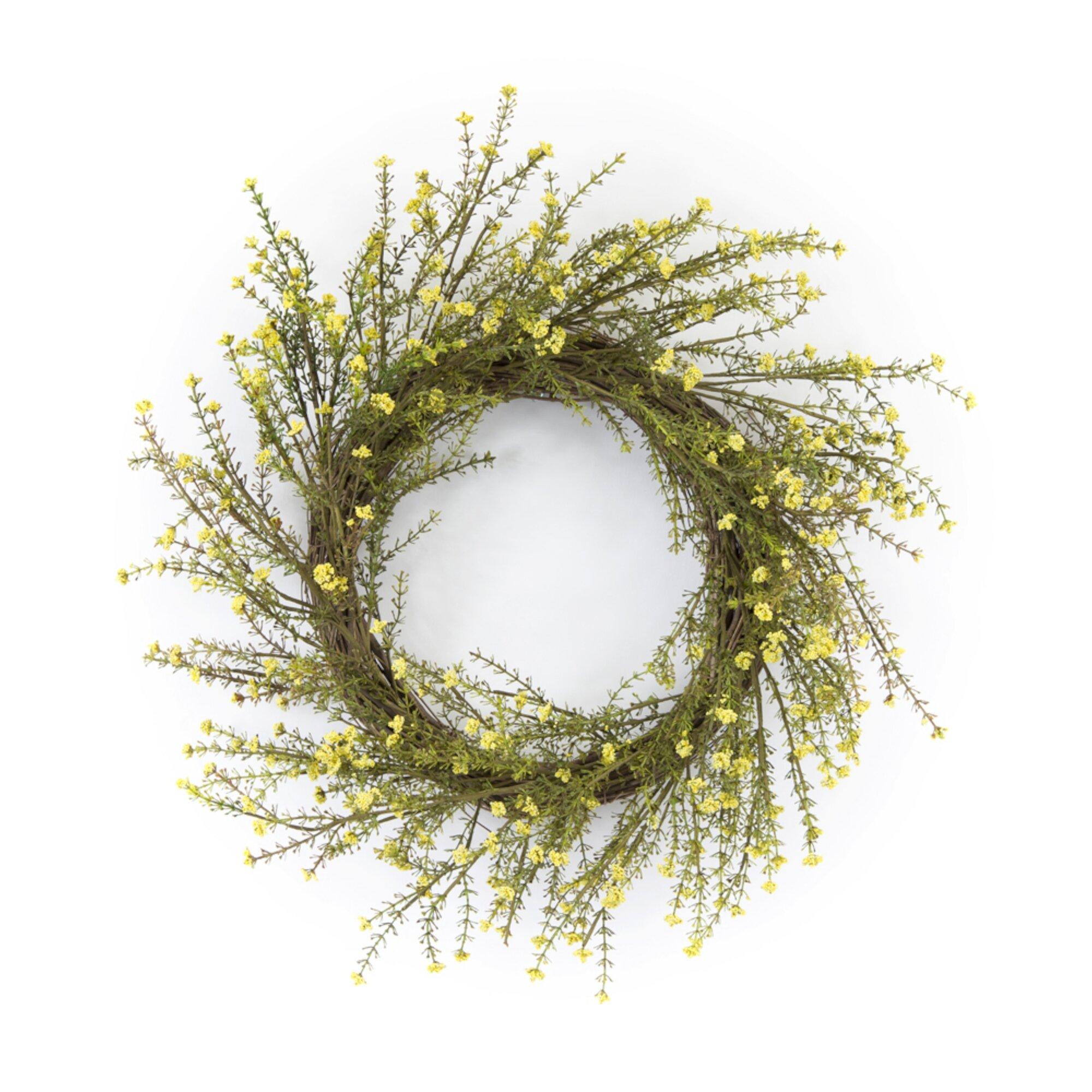 Primrue Mini Floral 18 Polyester Wreath