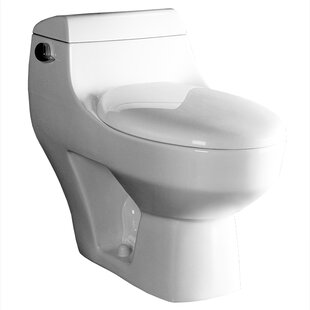 Athena Contemporary 1.6 GPF Elongated One-Piece Toilet (Seat Included) By Ariel Bath