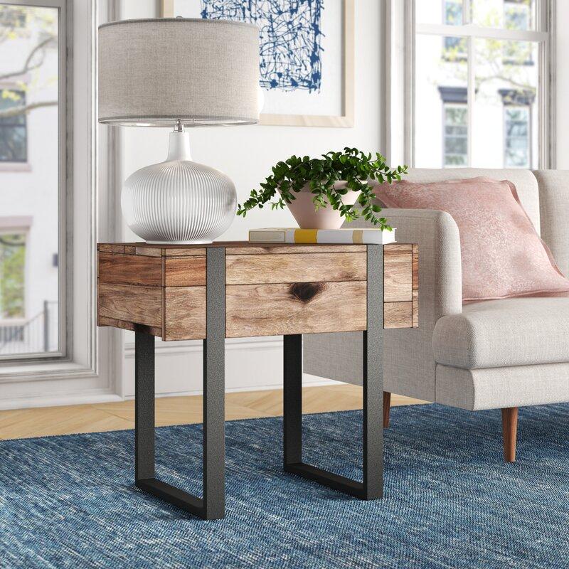 Foundstone Langdon Modern Sled End Table Reviews Wayfair