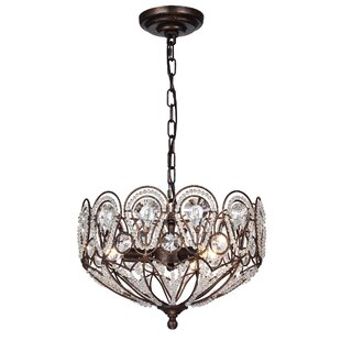Castorena 3-Light Crystal Chandelier