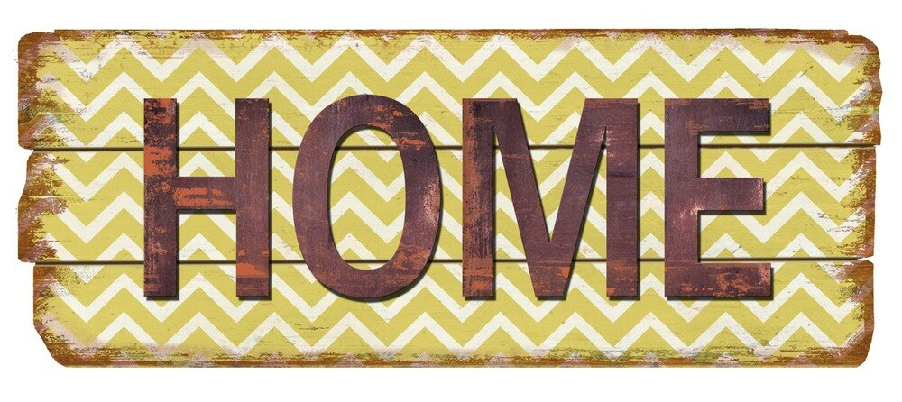 Nora Lane Rustic Home Chevron Wood Sign Wall Decor & Reviews | Wayfair