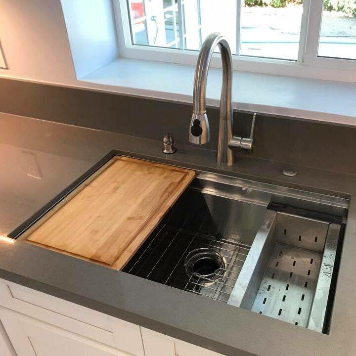 Boann 32 X 20 Undermount Kitchen Sink With Sliding Cutting Board And Colander Reviews Wayfair