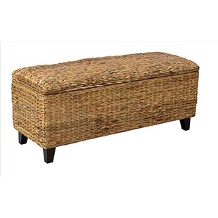 Milan Wicker Storage Bench by Bay Isle Home