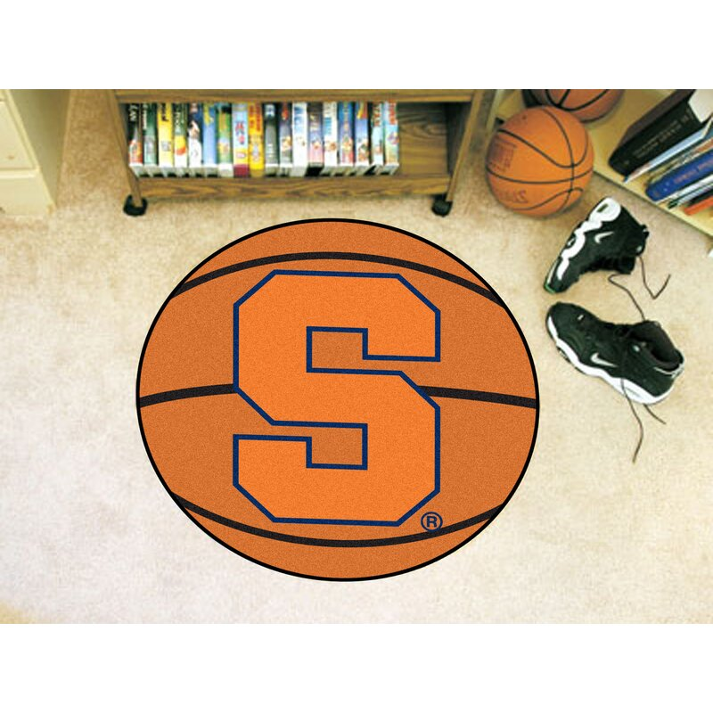 Fanmats Ncaa Syracuse University Basketball 27 In X 27 In Non Slip Indoor Only Mat Wayfair