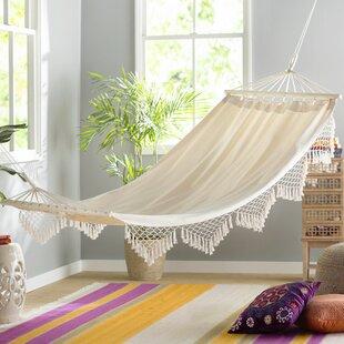 edyth fringed cotton tree hammock indoor hammock bed   wayfair  rh   wayfair