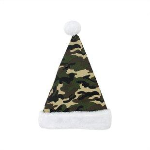 80b76b1f548 Camouflage Santa Hat with Plush Cuff