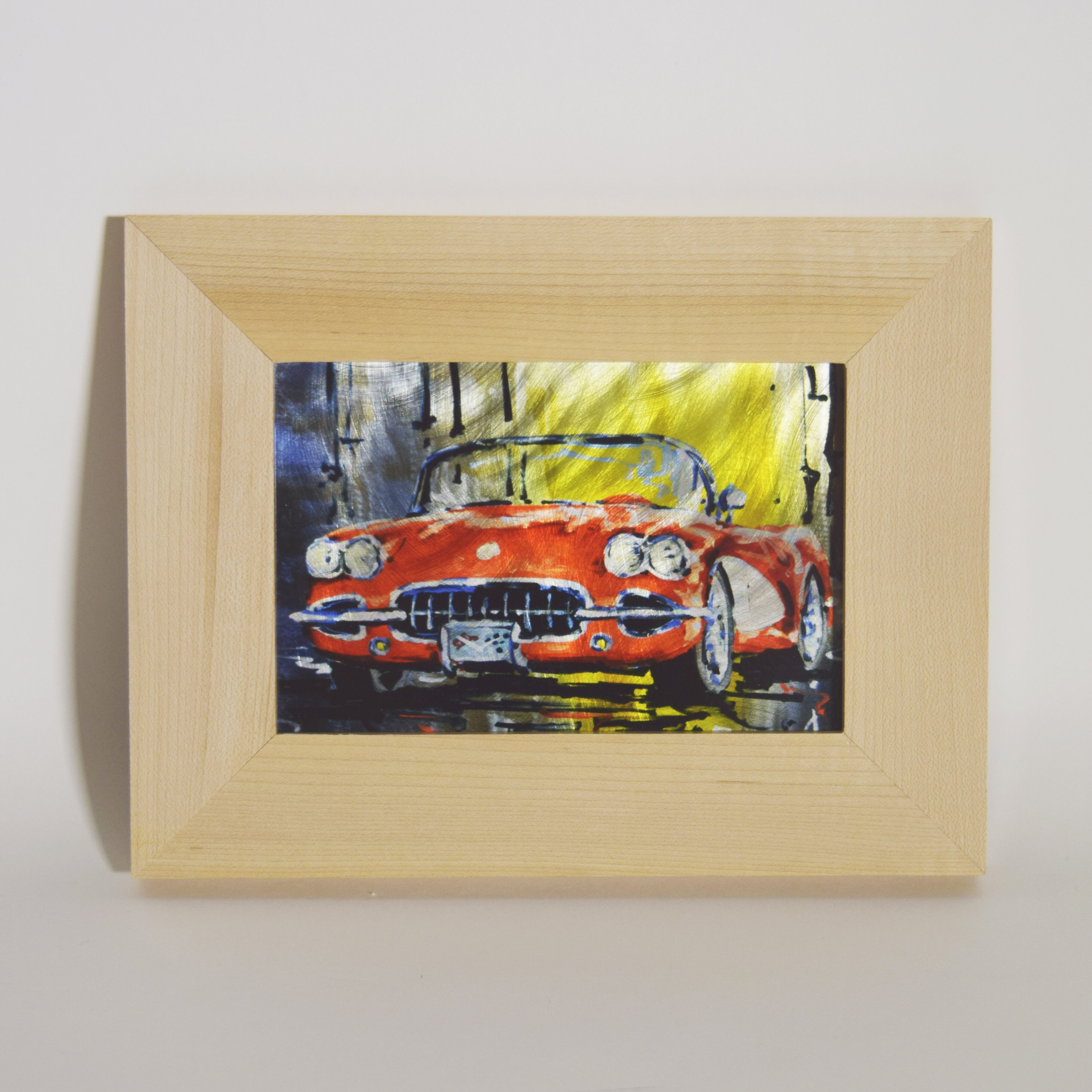 TrekDecor 1958 Red Corvette Sublimated Framed Painting Print | Wayfair