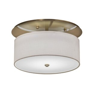 Keffer 2-Light Outdoor Semi Flush Mount