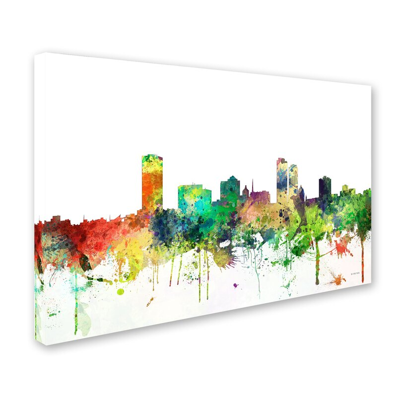 trademark art milwaukee wisconsin skyline sp by marlene watson