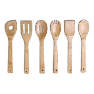 6 Piece Bamboo Kitchen Utensil Tool Set