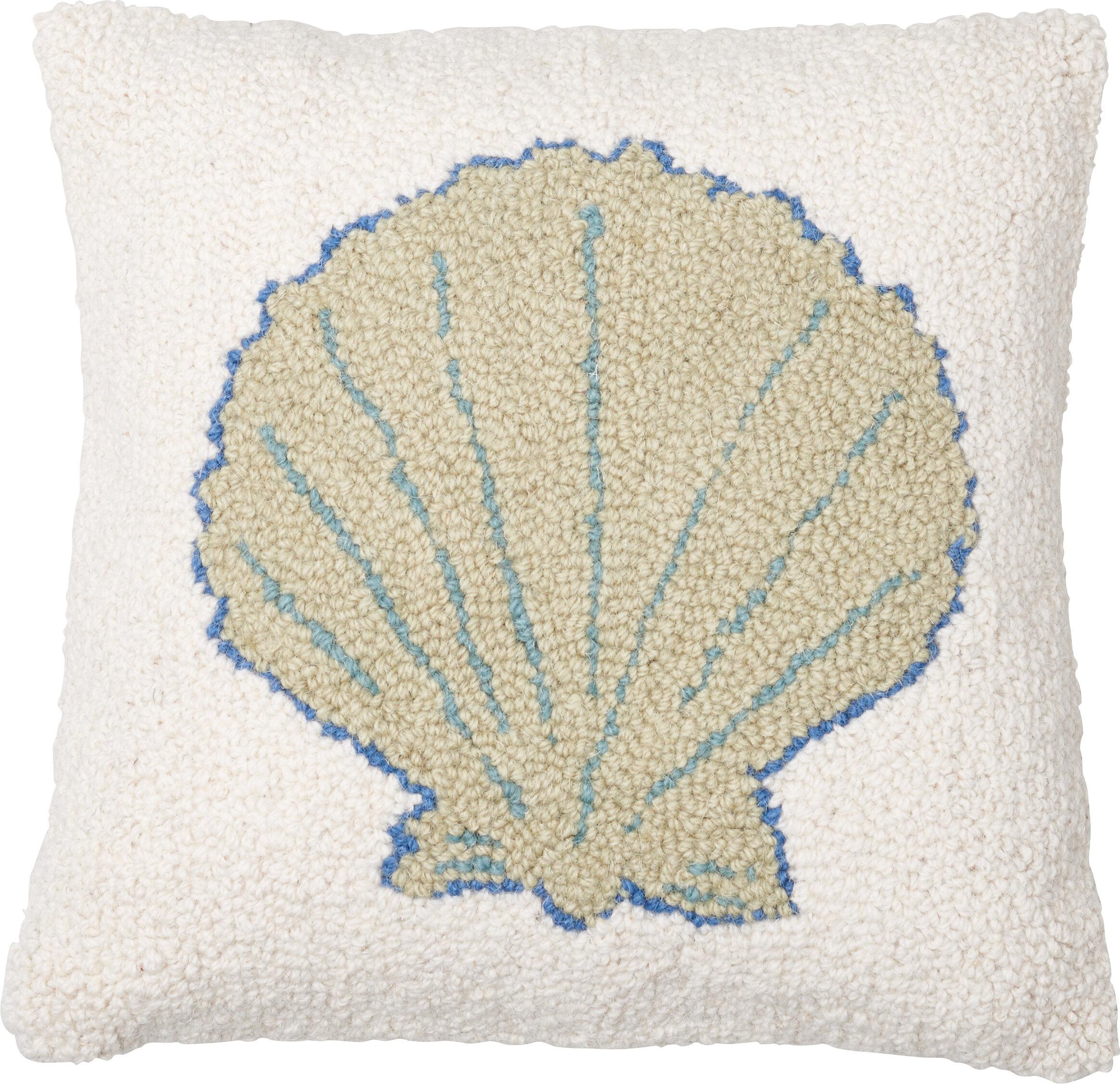 Amity Home Sea Shell Wool Throw Pillow Reviews Wayfair