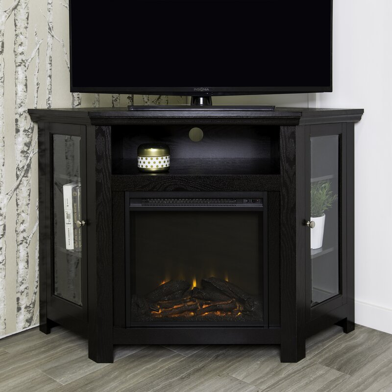 "Mistana Tieton Corner TV Stand for TVs up to 50"" with Electric"