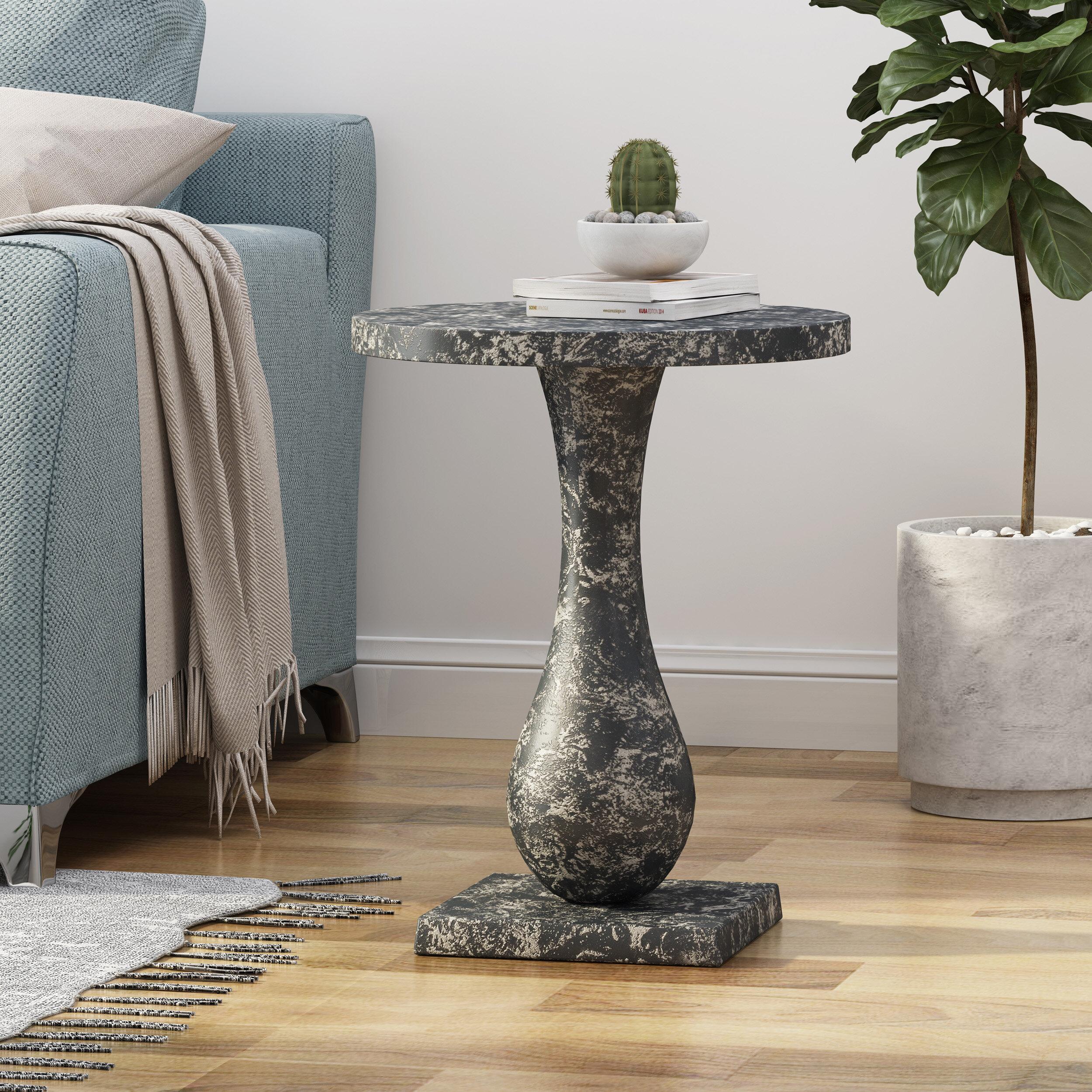 - Charlton Home Rachel Modern Aluminum Accent Table Wayfair