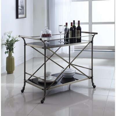 Eisenbarth Beautiful Metal and Glass Bar Carts by Darby Home Co