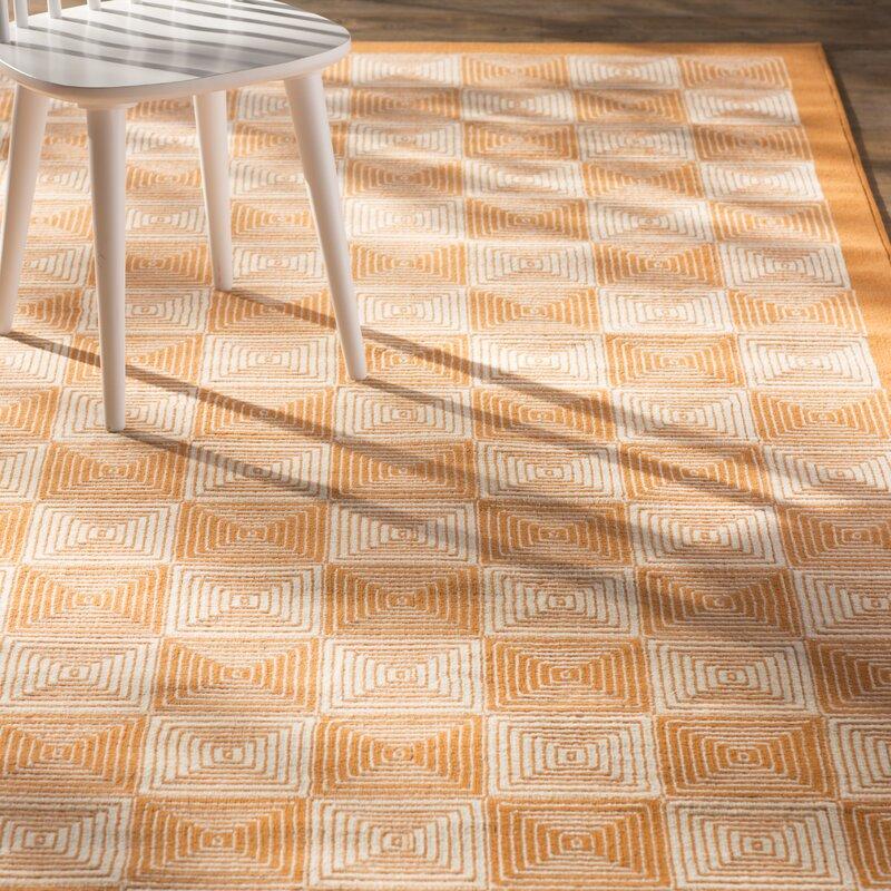Wrought Studio Bowman Orange Indoor/Outdoor Area Rug