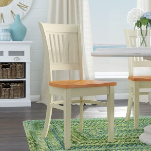 Creighton Solid Wood Dining Chair (Set of 2) Highland Dunes