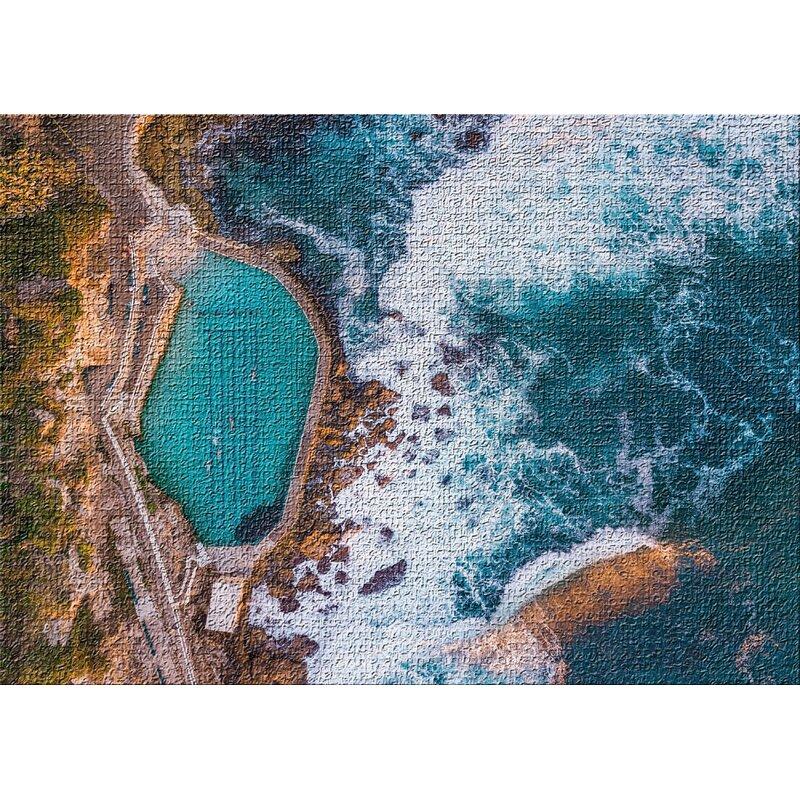 East Urban Home Aerial Shots From An Airplane 68 Blue Area Rug Wayfair