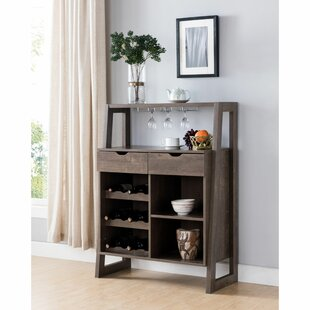 Northwood Stylish Wooden Bar with Wine Storage by Union Rustic