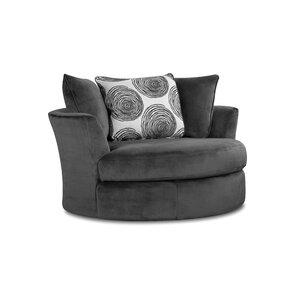 Superb Leesburg Swivel Barrel Chair
