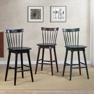 Manzi 30 Swivel Bar Stool Gracie Oaks