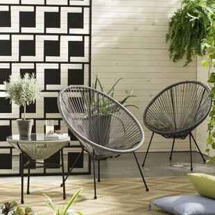Zion 3 Piece Rattan 2 Person Seating Group