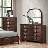 Anmoore 8 Drawer Double Dresser with Mirror by World Menagerie