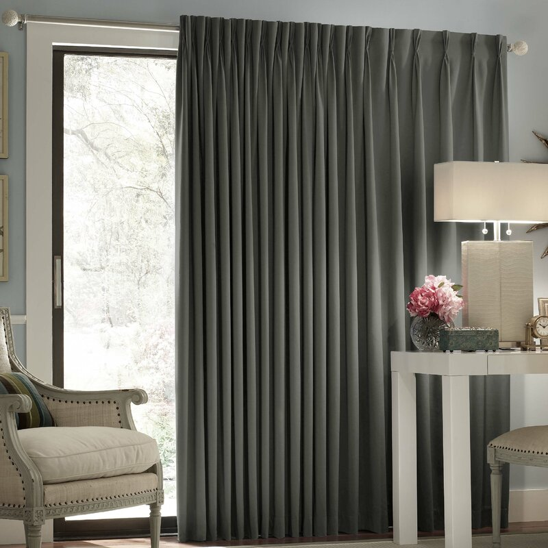 Ashville Patio Solid Blackout Rod Pocket Single Curtain Panel