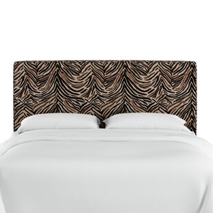 Find a Genevie Washed Zebra Upholstered Panel Headboard by Bloomsbury Market