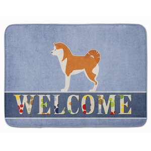 Akita Welcome Memory Foam Bath Rug
