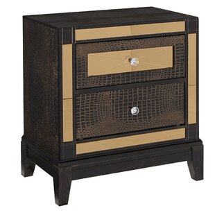 Rollison Textured 2 Drawer Nightstand