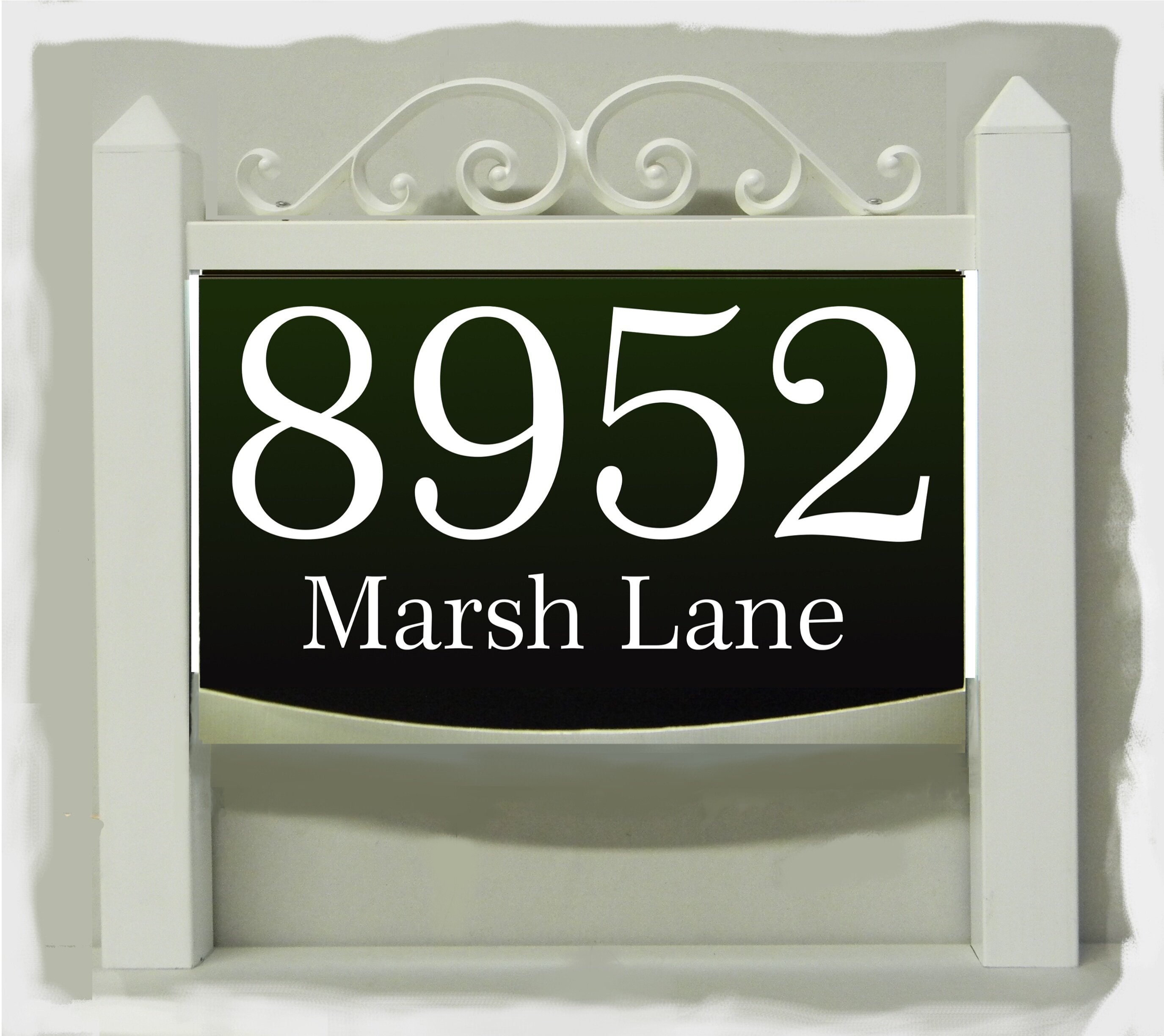 Ezstreetsigns Traditional Led Address Sign With Landscape Light Adapter Wayfair