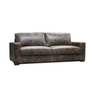 Norah Leather Sofa by 17 Stories Amazing