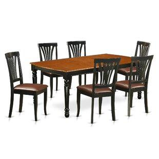 Pimentel 7 Piece Solid Wood Dining Set by August Grove New Design