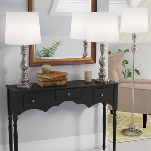 Girardeau 3 Piece Table and Floor Lamp Set