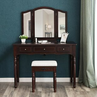 Bollman Vanity Set with Mirror By Charlton Home