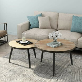 Poarch Industrial Nesting 2 Piece Coffee Table Set