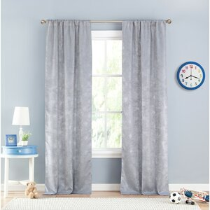 Clarice Abstract Blackout Thermal Rod Pocket Curtain Panels (Set of 2)