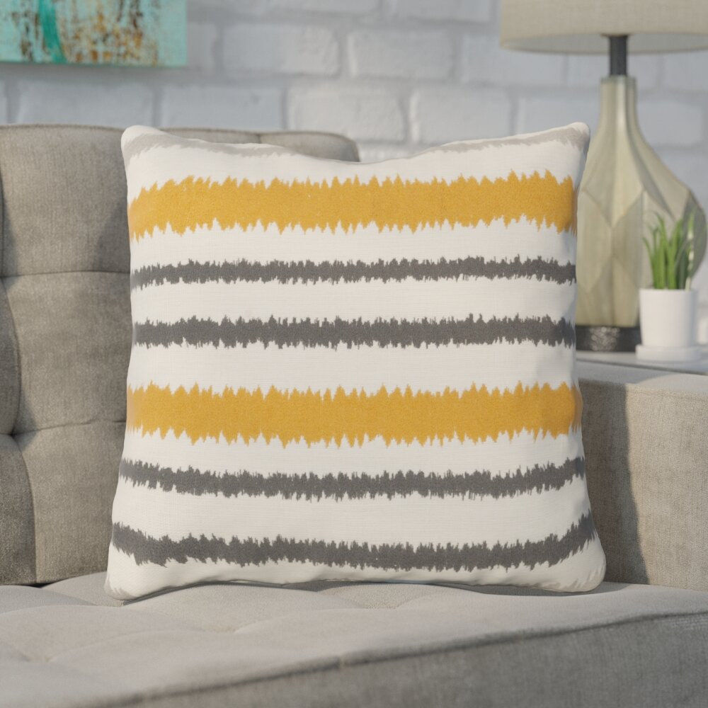 Brayden Studio Arrey Vertical Stripes Linen Throw Pillow Reviews Wayfair