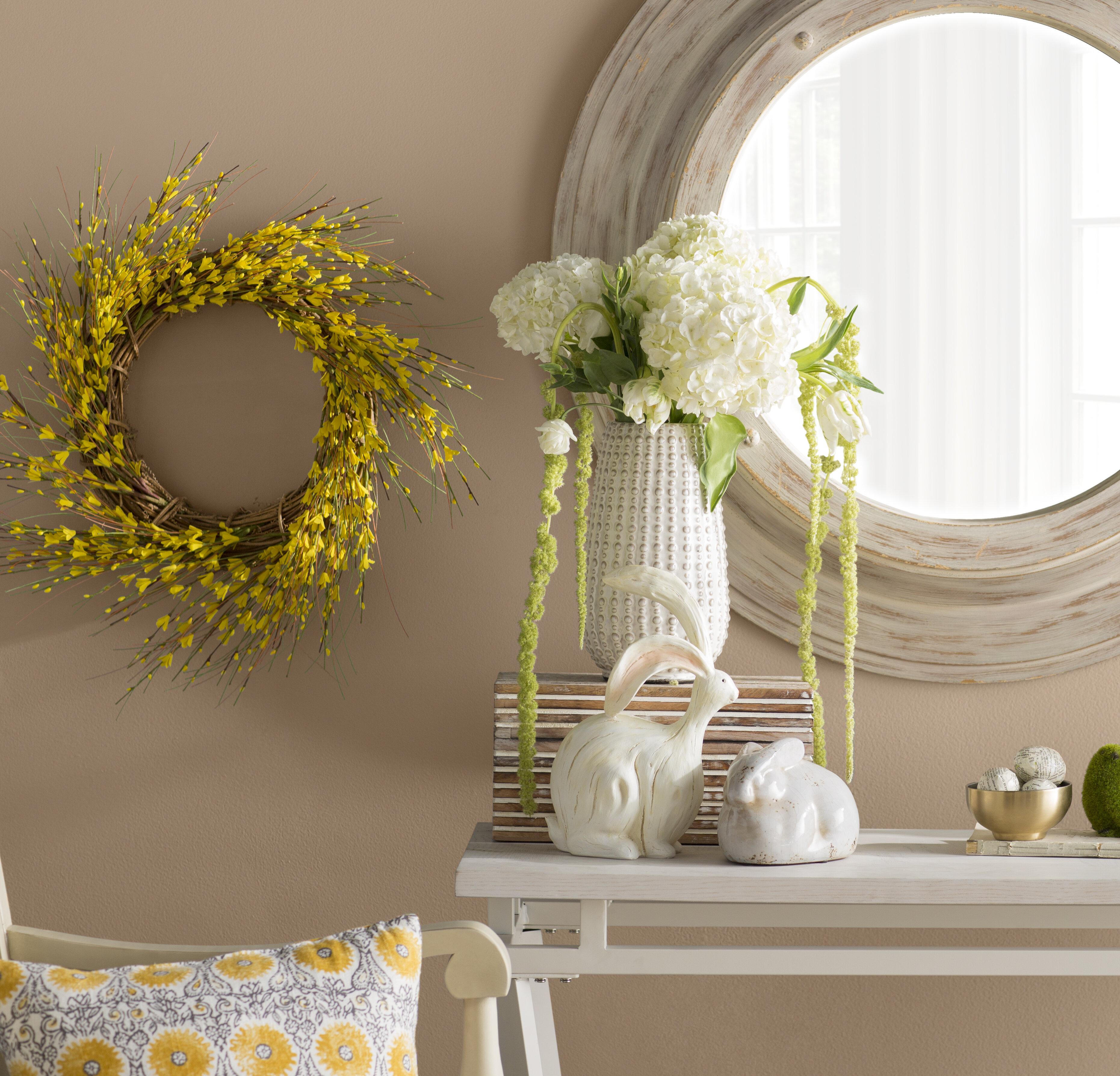 Faux Forsythia Wreath & Reviews