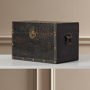 Maryport Decorative Leather Wooden Trunk by Charlton Home