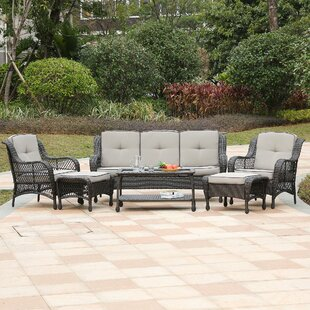 Garden City 6 Piece Rattan Sofa Set with Cushions